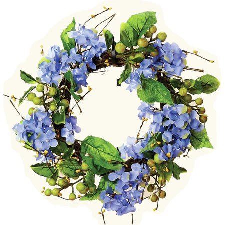 Worth Imports Hydrangea 13  Wreath - Walmart Com.