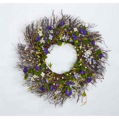 Worth Imports Twig And Berry Wild Flower 24  Wreath .