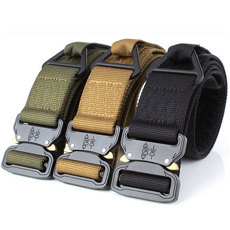 Yamdei Heavy Duty Tactical Military Nylon Belt Buckle Metal Men.