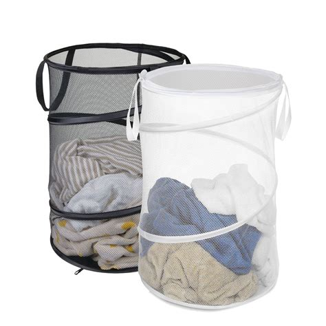 York Foldable Portable Hamper Laundry Basket With Carry .
