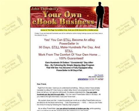 [click]your Own Ebook Business By John Thornhill.