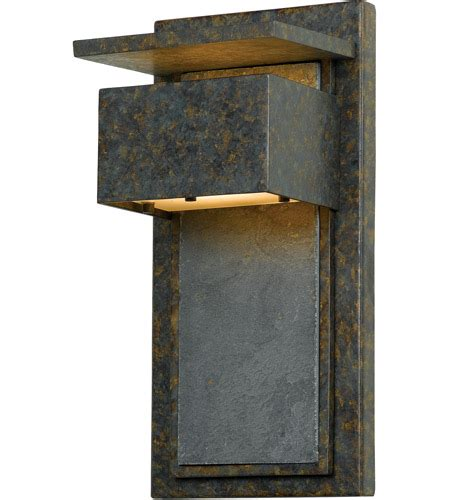 Zephyr 1 Light 14 Inch Muted Bronze Outdoor Wall Lantern .