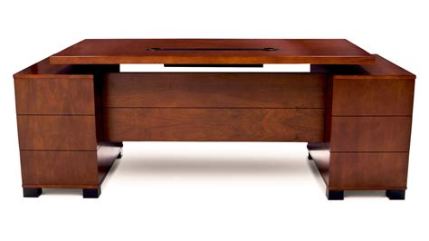 Zuri Furniture Ford Executive Desk With Filing Cabinets .