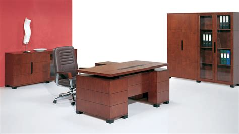 Zuri Furniture Ford Executive Modern Desk With Filing .