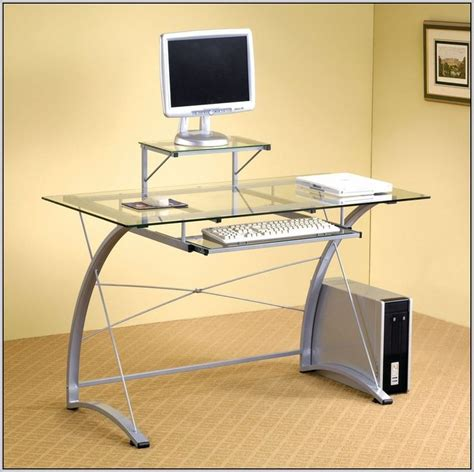 Zyon Contemporary Glass Design Pc Desk