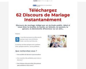 [get] Pack De Discours De Mariage + Conversion Top - Video.