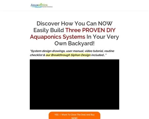 [shop] [click]diy Aquaponics Made Easy Brand New High Conversion.