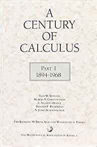 Read Books A Century of Calculus, 1894-1968 Online