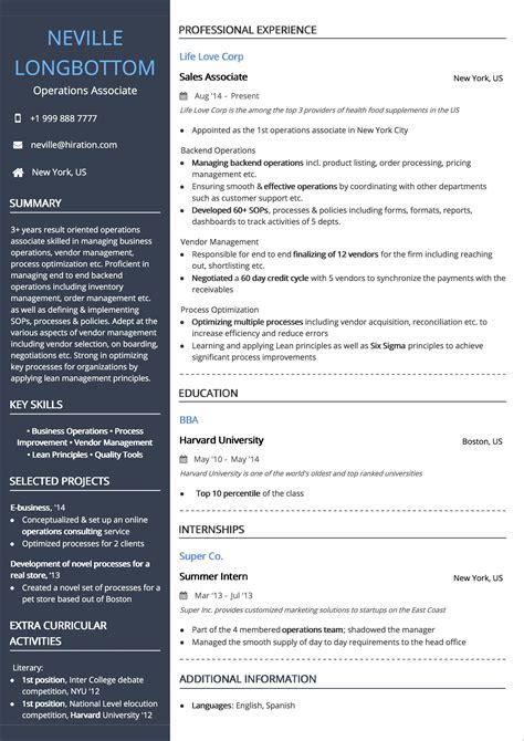 best resume format australia template