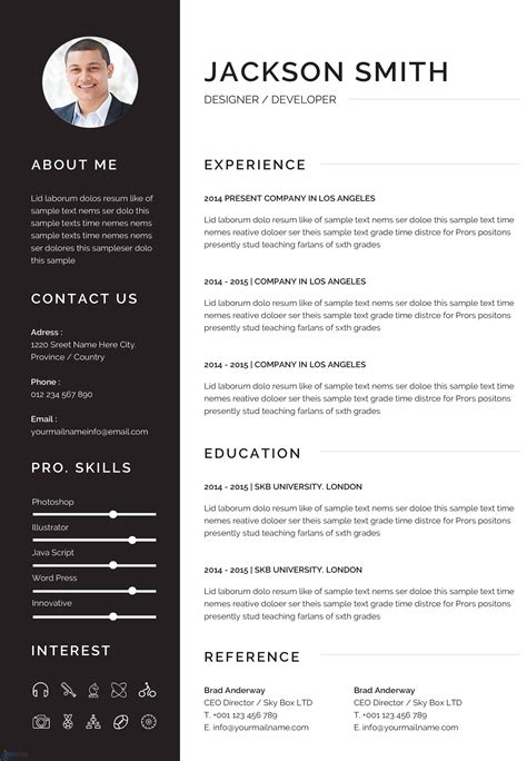 a standard resume format resume formats with examples and formatting tips