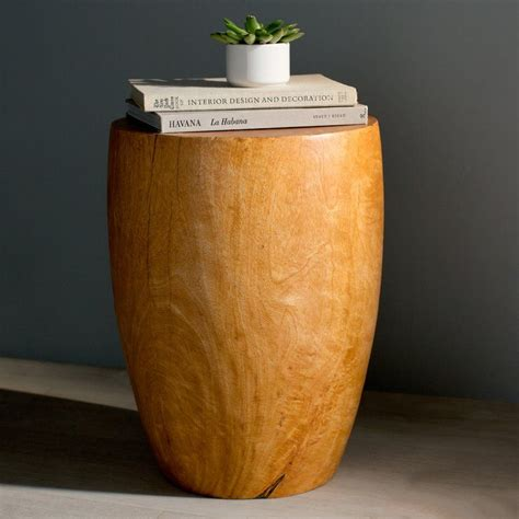 Aaliyah Mango Merlot Twist End Table