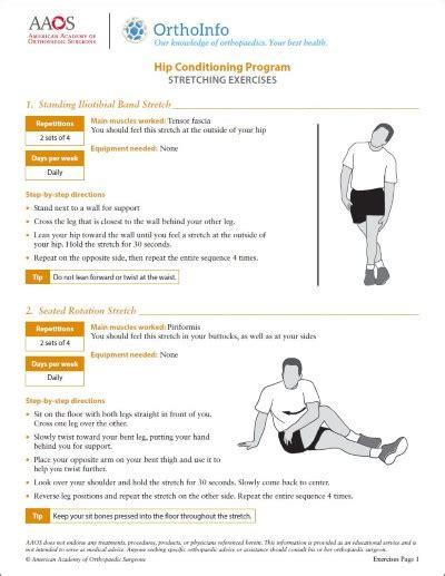 aaos hip exercises pdf