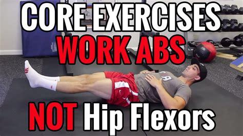 ab exercises that do not use hip flexors