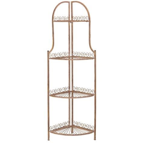 Abarrane 4 Tier Corner Unit Bookcase