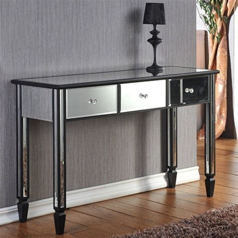 Abdo 3 Drawer Mirrored Console Table