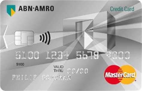 Abn Amro Credit Card Rekening Creditcard Online Abn Amro