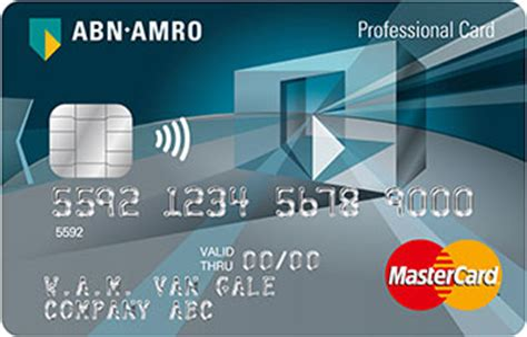 Abn Amro Credit Card Rekening Zakelijke Creditcard Gebruik Abn Amro