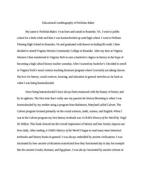 sample biographical - Rutgers Essay Example