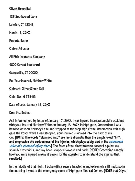 Accident Demand Letter Sample Sample Car Accident Demand Letter To Insurance Company