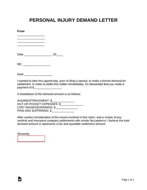 Accident Demand Letter Sample Sample Demand Letters Personal Injury Car Accident