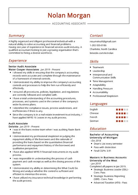 Accounting Associate Resume Template Best Accounting Resume Templates Samples