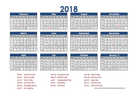 Accounting Calendar Template 2018 Accounting Calendar Templates Download Free