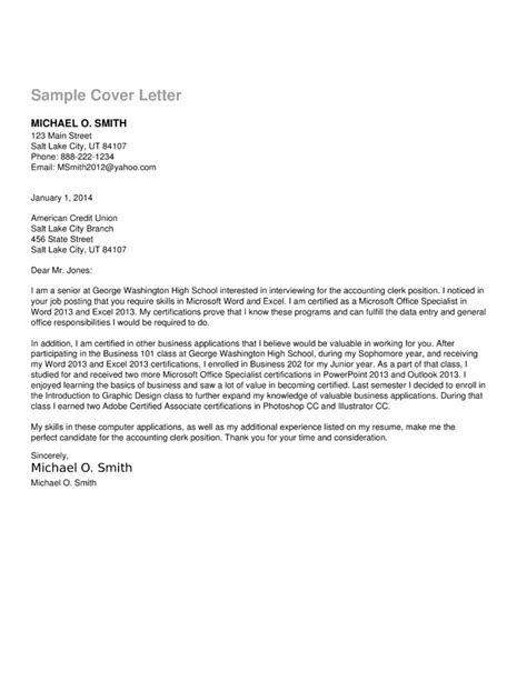 accounting clerk resume and cover letter accounting clerk cover letter sample o resumebaking - Cover Letter For Accounting Clerk