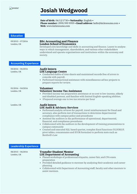 Accounting Graduate Resume Objective Accounting Resume Tips For Creating A Winning Resume