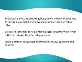 Accounting Internship Phone Interview Questions Common Accounting Interview Questions
