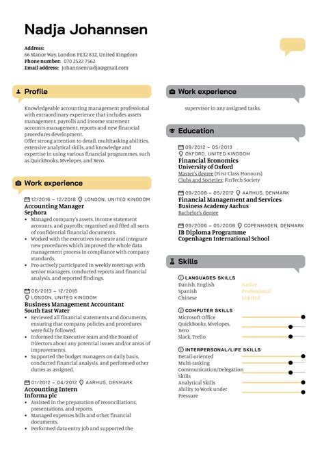 Accounting Manager Resume Template Free Creative Resume Template 81 Free Samples Examples
