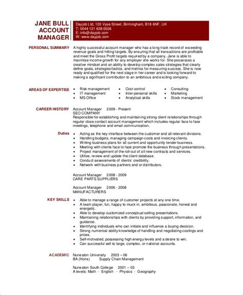 Accounting Manager Resume Template Free Microsoft Word Resume Template 99 Free Samples