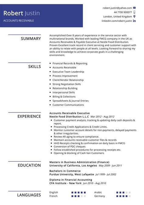 Accounting Receivable Resume Sample Accounting Resume Best Sample Resume