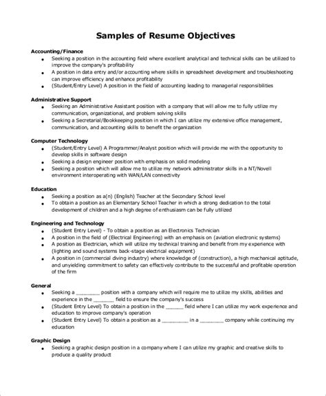 accounting resume objective statement good resume objective statement examples resume