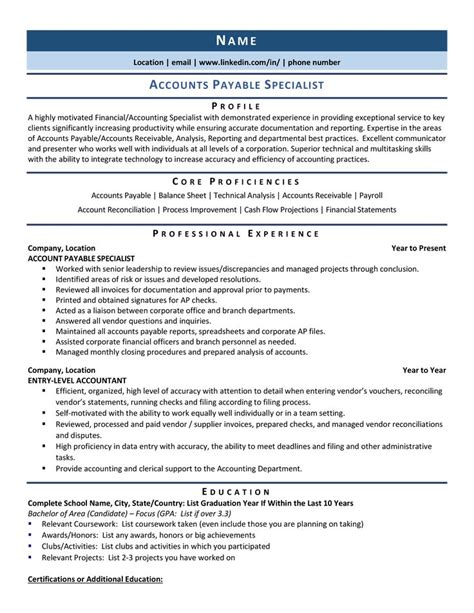 accounting specialist resume sample cover letter example marketing