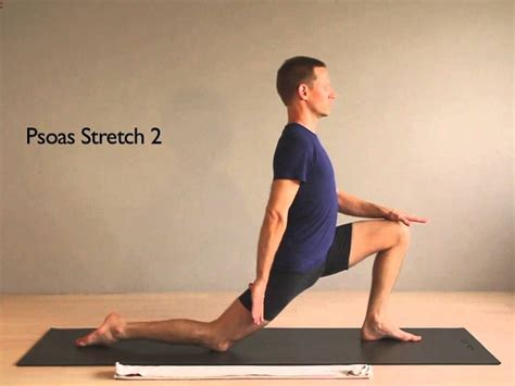 active isolated hip flexor stretches with foam