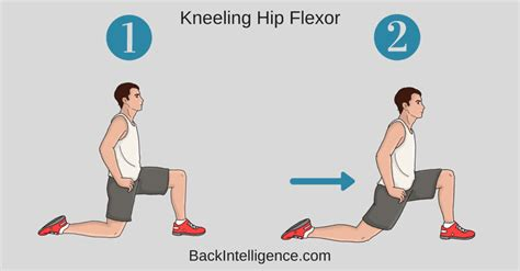 active kneeling hip flexor stretch with pelvic tilt exercise benefits