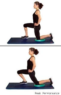 active kneeling hip flexor stretch with rotation logos of the world
