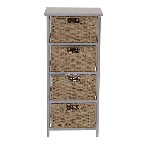 Acton Corn Rope 4 Drawer Accent Chest