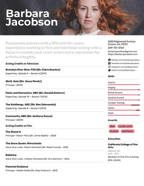 actor resume format india sample resume resume