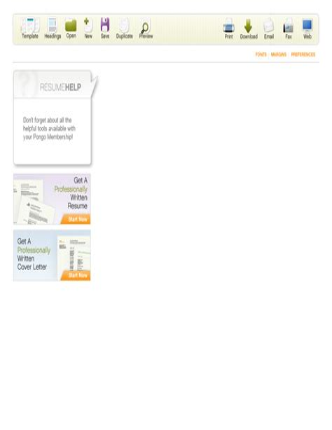 actual free resume builder resume builder pongo resume