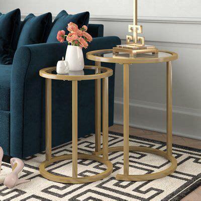 Adamczyk Glam 2 Piece Nesting Tables