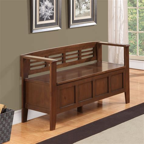 Adams Wood Storage Bench