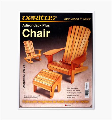 Adirondack Chair Plans Lee Valley