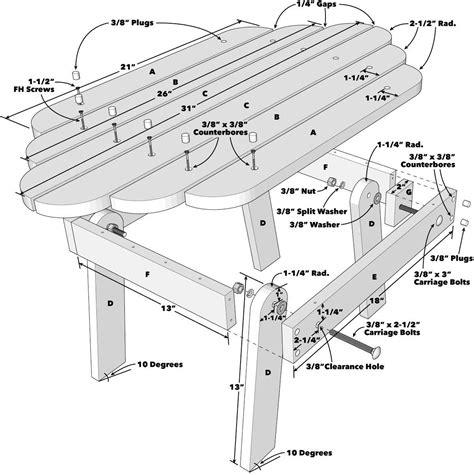 Adirondack Chair Table Plans