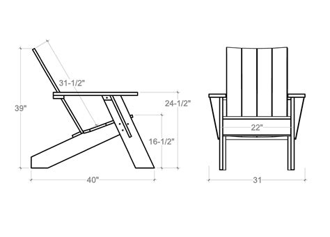 Adirondack Chairs Dimensions