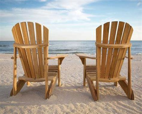 Adirondack Chairs On Beach