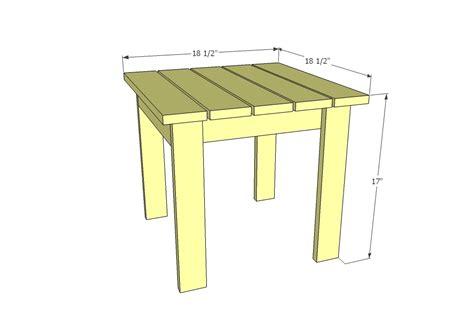 Adirondack Side Table Plans