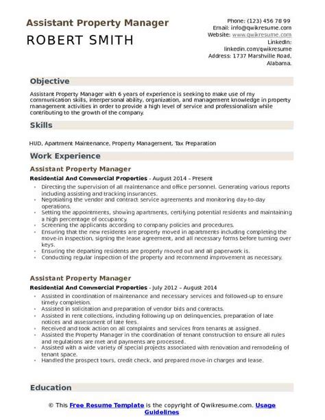 administrative assistant property management resume property management assistant resume sample livecareer - Sample Property Manager Resume