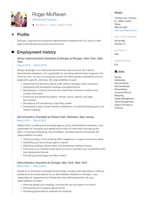 administrative clerical resume objectives sample resume for administrative assistant - Administrative Clerical Sample Resume
