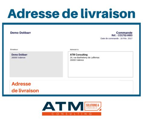 Adresse De Livraison